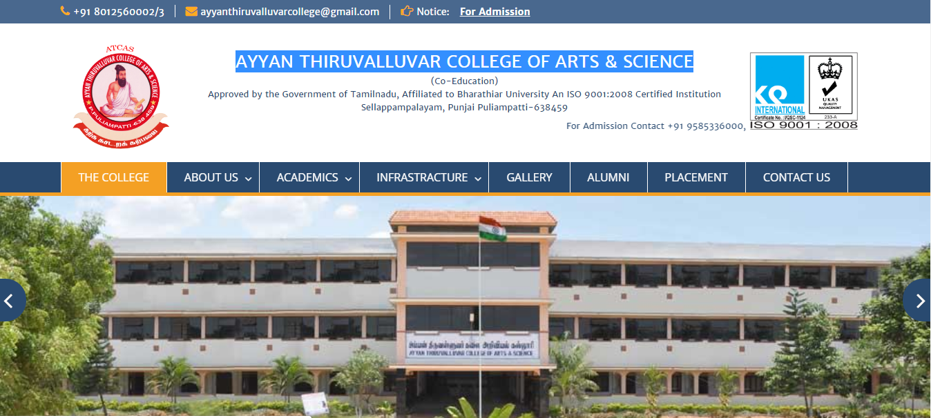 AYYAN THIRUVALLUVAR COLLEGE OF ARTS & SCIENCE
